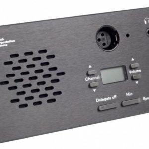 Врезной микрофонный пульт Председателя со встроенной электроникой и передней панелью CM 6080 F
