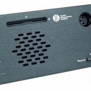 Врезной микрофонный пульт Делегата со встроенной электроникой и передней панелью DM 6620 F
