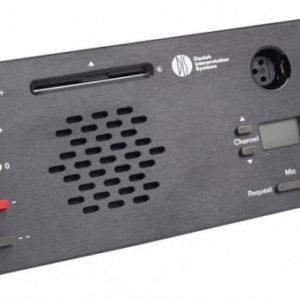 Врезной микрофонный пульт Делегата со встроенной электроникой и передней панелью DM 6680 F