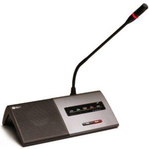 Настольный микрофонный пульт. Полностью цифровой со встроенным громкоговорителем
